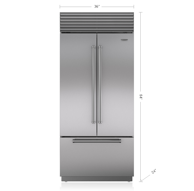 Sub Zero 36 Built In Over And Under Refrigerator With