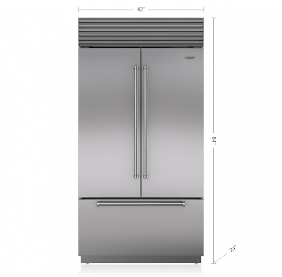 Sub Zero 42 Built In Over And Under Refrigerator With